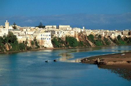 منظر لمدينة ازمور عند المدخل الشمالي على نهر ام الربيع
