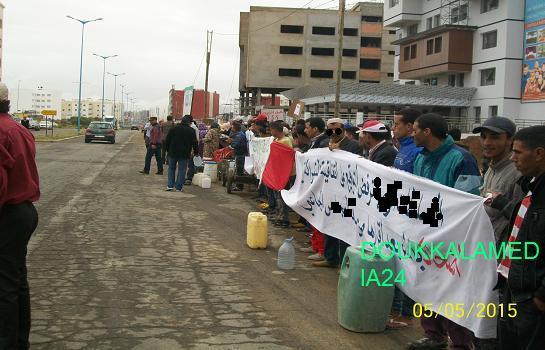 مسيرة عطش بسيدي بنور في اتجاه العمالة