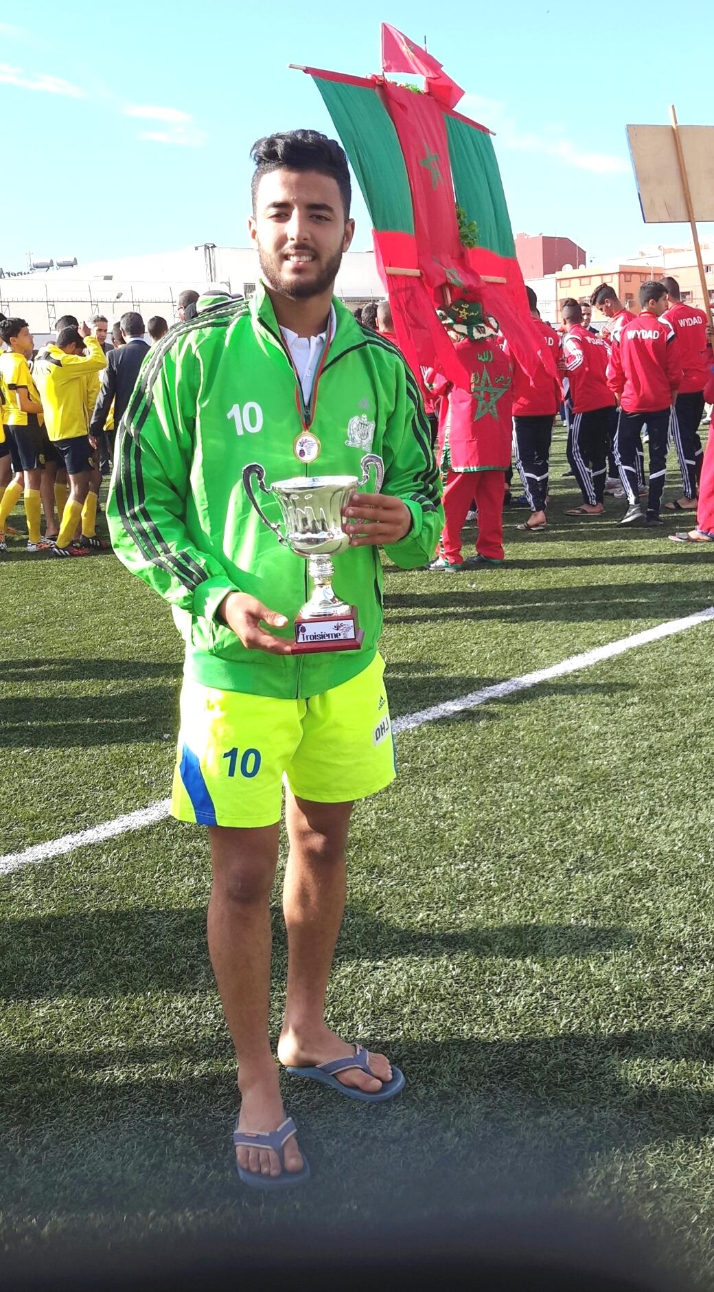 اللاعب إلياس لوخناتي أفضل هداف في  بطولة الشبان لكرة القدم  بالجديدة