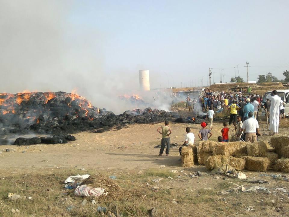 دار الكداري تحترق صيفا بعد اندلاع النيران في محاصيل فلاحية