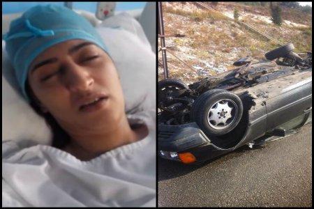 دنيا بوتازوط تنجو من موت محقق بعد انقلاب سيارتها