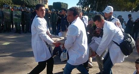 سيدي بنور :تضامن الجمعية المغربية لحقوق الانسان مع الاساتذة المعنفين