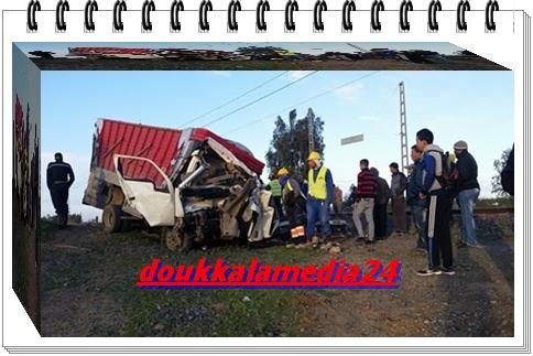 اصطدام قوي بين قطار و وشاحنة خلف ضحايا