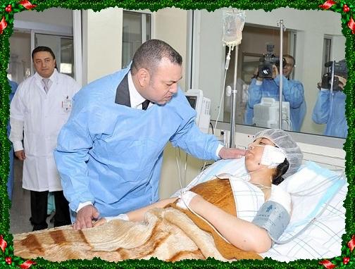 الملك يزور شخصيا بالمستشفى الفتاة التي صدمتها سيارة الموكب الملكي (رعاية ملكية لملك عظيم)