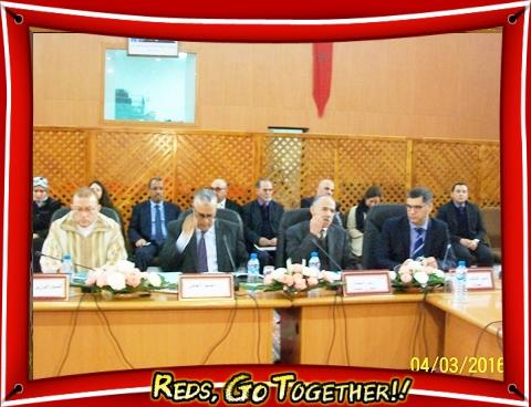 توقيع وثيقة عمل بين وزير النقل السيد بوليف و رئيس الجماعة الحضرية للجديدة تخص السلامة الطرقية