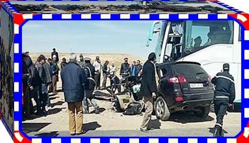 كولونيل و زوجته يلقيان حتفهما  في حادثة سير بالقرب من ميدلت