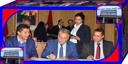 بلاغ صحفي لوزارة السكنى و سياسة المدينة التوقيع على 3 اتفاقيات لتمويل وانجاز برامج معالجة السكن غير اللائق بإقليم الجديدة الأربعاء 20 أبريل 2016