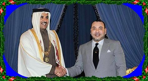 صاحب الجلالة يحضى باستقبال خاص بدولة قطر الشقيقة