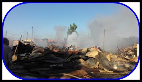 حريق و لهيب نيران بهذا االسوق (الجوطية)