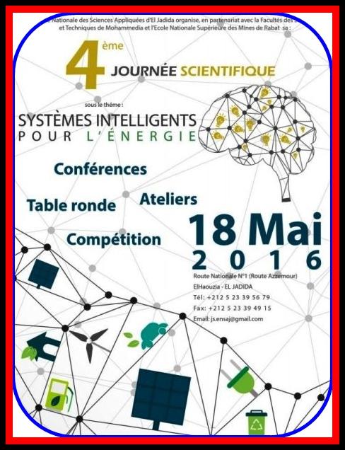 """المدرسة الوطنية للعلوم التطبيقية بالجديدة تنظم يوم علمي تحت شعار""""الأنظمة الذكية للطاقة"""""""