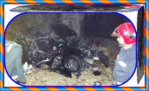 عاجل:وفاة أربعة شبان بعد انقلاب سيارتهم بين الجديدة و الوالدية