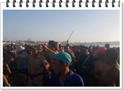 عصابة من 10 عناصر تهاجم مصطافين بالسيوف لتسلب و تغتصب بالشاطئ