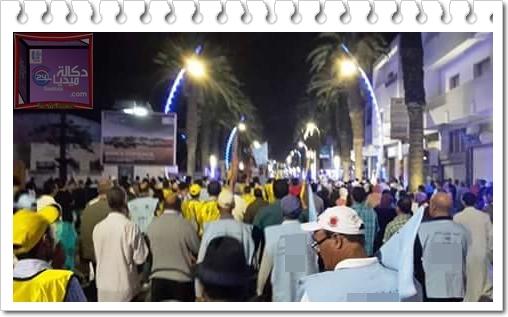 الجديدة:ارتجال الجكومة يخرج نقابتان للاحتجاج بتنظيم مسيرة بالشارع العام