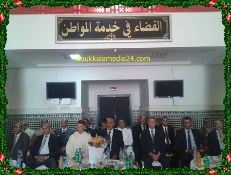 السيدان رئيسا المحكمة الابتدائية و الاستئنافية على رأس وفد هام في استقبال عامل الجديدة ببهو قصر العدالة