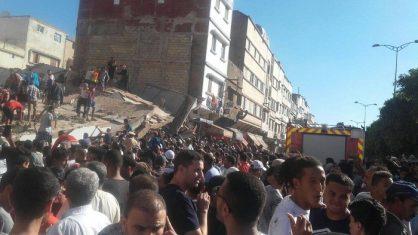 عاجل كارثة … سقوط عمارة على 20 مواطنا داخل مقهى والقتلى والجرحى غير محصيين