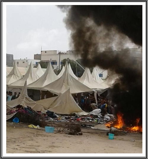 معرض المحار يتعرض لحريق مهول زوال يومه الجمعة بالوالدية