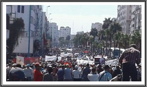 رأي المنتدى المغربي لحقوق الانسان بالجديدة في مسيرة البيضاء