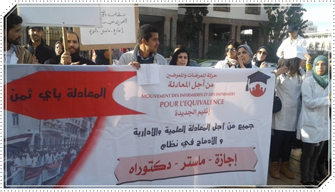 """الممرضون يضاعفون من وثيرة الاحتجاج:هل انقلب السحر على الساحر"""" ؟"""