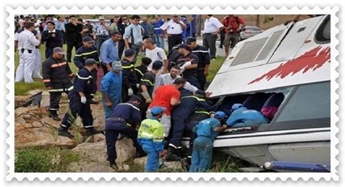 عاجل:حادثة سير تحصد 10 تلاميذ كانوا في رحلة مدرسية