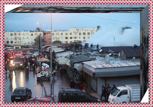 عاجل:النيران تلتهم قيسارية و تأتي على حوالي 30 محلا تجاريا
