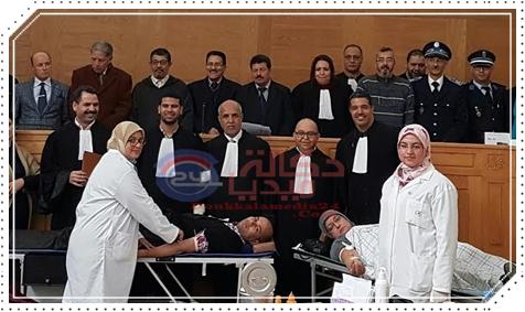 هيئة المحامين بالجديدة تنظم حملة للتبرع بالدم برحاب قصر العدالة بالجديدة