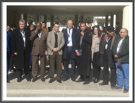 ذ.هشام دوليم نائب وكيل الملك يلقي عرضا بالمؤتمر الدولي بالجديدة
