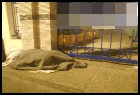 مشردون يقضون ليلة رأس السنة تحت رحمة البرد و الجوع بالجديدة