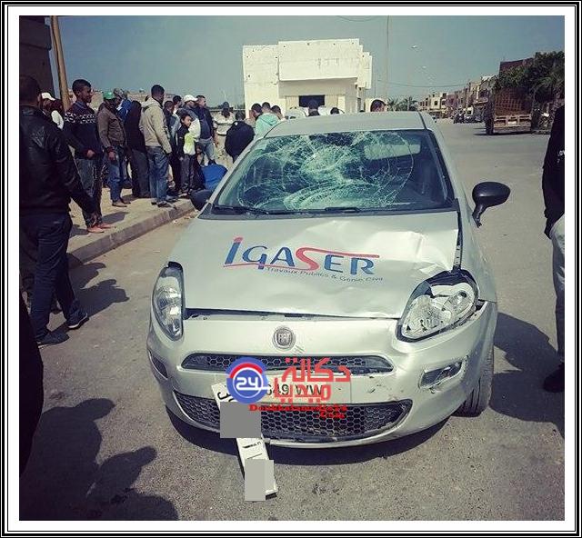 عاجل:حادثة بمركز مولاي عبد الله ، سيارة شركة تصدم مسنا
