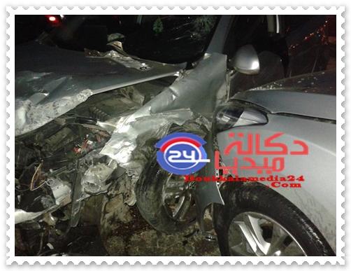 عاجل:حادثة سير بالطريق الشاطئية تخلف خسائر في 4 سيارات قرب عمارة سجدة