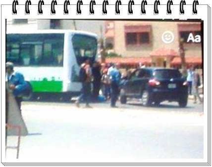 احتكاك قرب جامعة شعيب الدكالي بين سيارة أجرة و حافلة النقل الحضري يصيب قاصرا بجروح