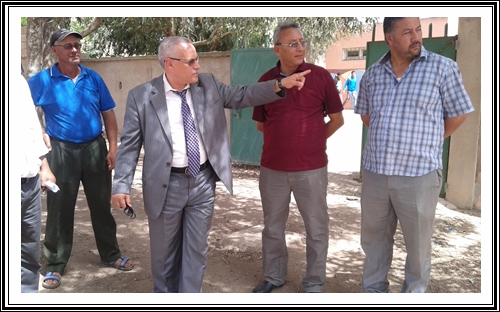 سيدي بنور:المديرية الاقليمية لوزارة التربية و التعليم و التكوين المهني تتتبع عمليات التأهيل المندمج للمؤسسات التعليمية بالإقليم