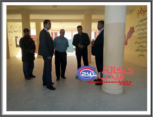 تعبئة شاملة تضفي حلة جديدة على المؤسسات التعليمية بمديرية سيدي بنور ومدير الأكاديمية يحل بالإقليم