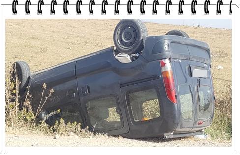 حادثة:شخصان في خطر بعد انقلاب سيارة كونكو على مشارف الباب الرئيس لل OCP