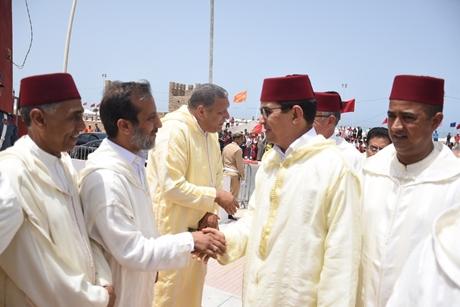 البيان الصحفي رقم (1):عامل إقليم الجديدة يترأس مراسيم حفل الافتتاح الديني لموسم مولاي عبد الله أمغار