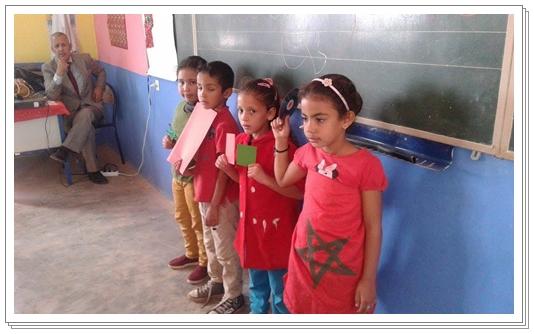 مجموعة مدارس سيدي ابهيليل القروية تحتفل بالذكرى 42 للمسيرة الخضراء