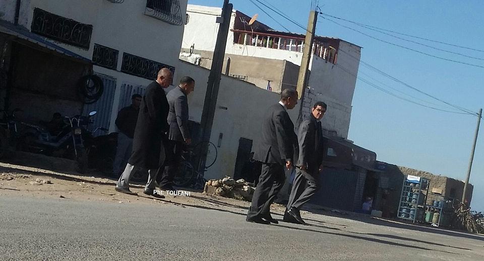 عامل الجديدة محمد الكروج يقوم بزيارة مفاجئة لمدينة البئرالجديدة