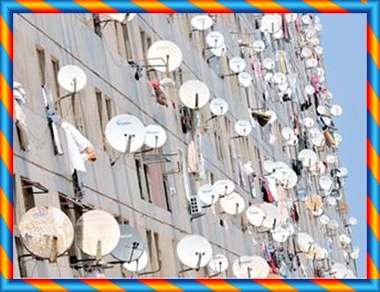 """ممنوع تثبيث البارابولات """"أجهزة استقبال البث التلفزي"""" على واجهات  نوافذ العمارات مع منع نفض غبار الزرابي من الشرفات و النوافذ"""
