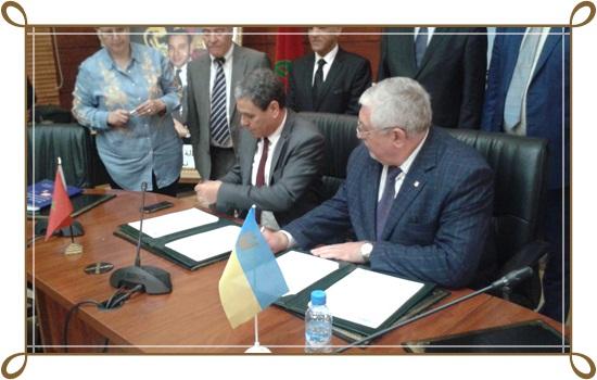 """توقيع اتفاقية شراكة بين جامعة شعيب الدكالي بالجديدة و جامعة """"خاركوف"""" الأوكرانية"""