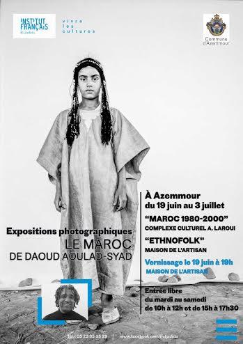 « Le Maroc de Daoud Aoulad-Syad »  Commissariat d'exposition : Nathalie Locatelli – Galerie 127  Expositions introduites par Françoise Benomar auteure du livre «un cinéma autrement»