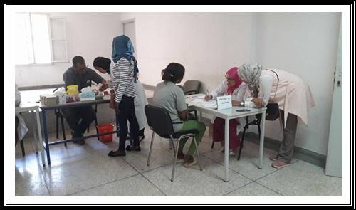 حملة طبية مجانية للمهاجرين المتواجدين بالجديدة