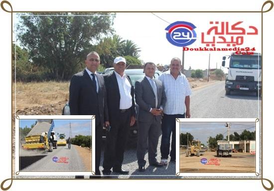 جماعة لغديرة تستعد لتدشينات عيد العرش بشق طريق معبدة