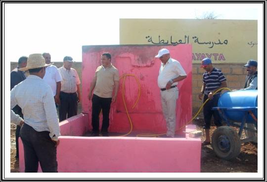 جماعة لغديرة:اعطاء انطلاق الاستفادة من سقاية بدوار العيايطة بمناسبة عيد الشباب و ثورة الملك و الشعب
