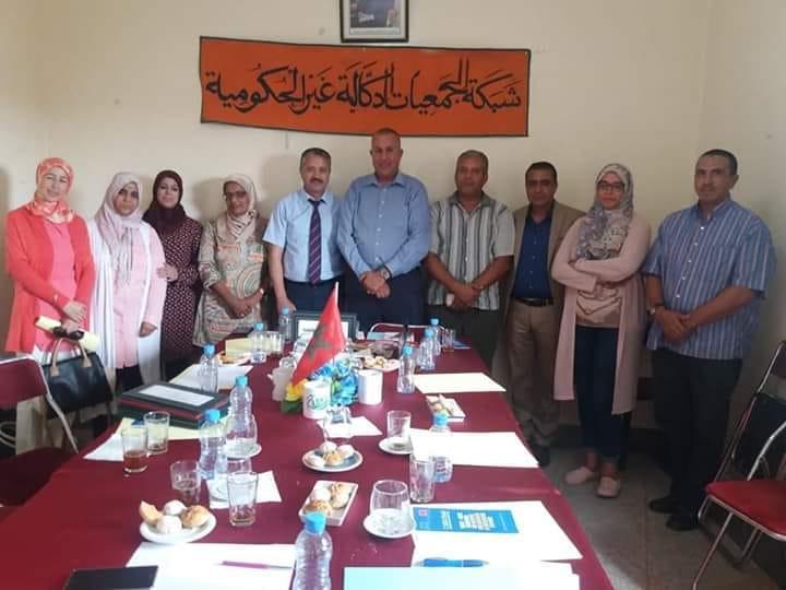 سيدي بنور:شبكة الجمعيات الدكالية غير الحكومية تجتمع لدراسة برنامج دعم المجتمع المدني التابع للاتحاد الأوروبي و المنسقة الإقليمية