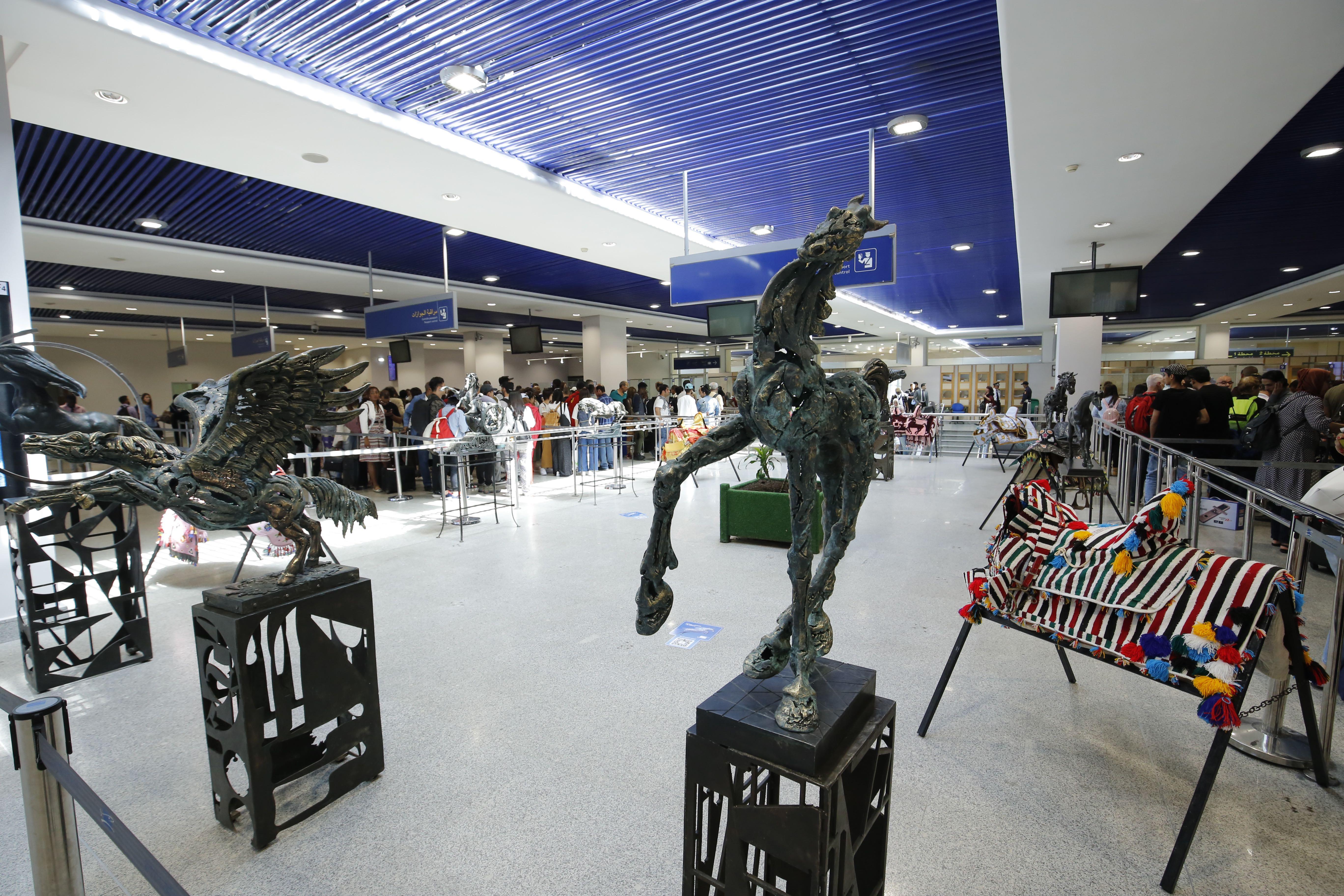 Le Cheval mis à l'honneur dans les aéroports   de Casablanca- Mohammed V et de Rabat-Salé