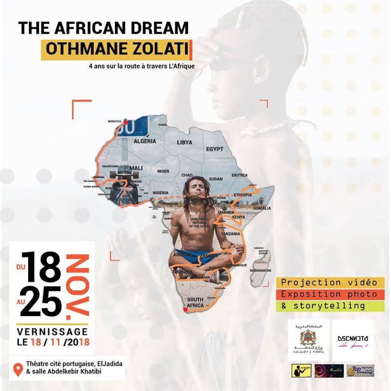 """الرحالة """"عثمان زولاتي"""" يعرض مغامرته الافريقية بمسرح الحي البرتغالي بالجديدة"""