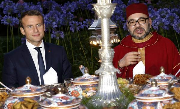 الملك يحضر مأدبة غذاء أقامها الرئيس الفرنسي بمناسبة تخليد مائوية هدنة الحرب العالمية الأولى